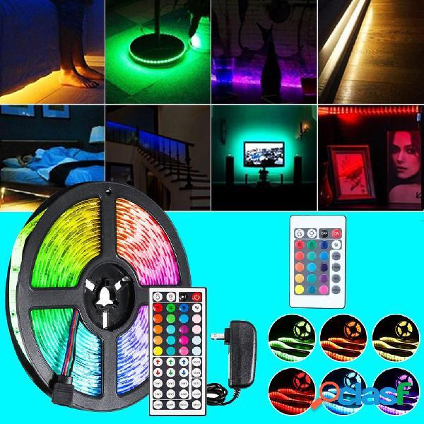 DC12V 5M 2835 SMD RGB No impermeable LED Tira de luz + 24