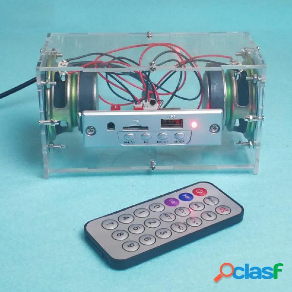 DIY 3W Mini Bluetooth Kit de altavoces MP3 Music Power