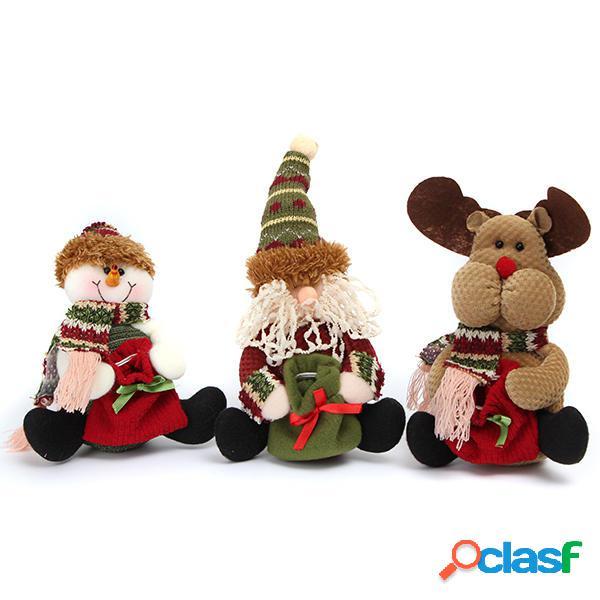Decoración de Navidad Santa Elman Snowman Patrón Pedant