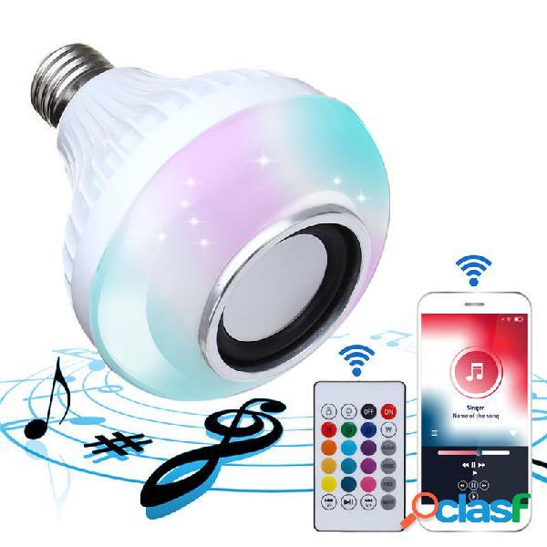 E27 Inalámbrico Bluetooth Altavoz Bombilla LED RGBW Music