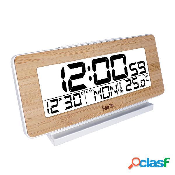 FanJuFJ3523WEscritorioRelojMesaelectrónica digital Reloj