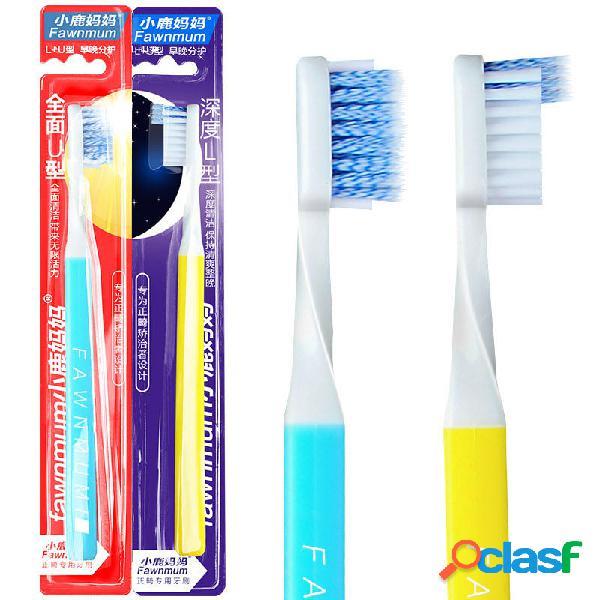 Fawnmum Dental Limpiador cepillo de dientes ortodóntico