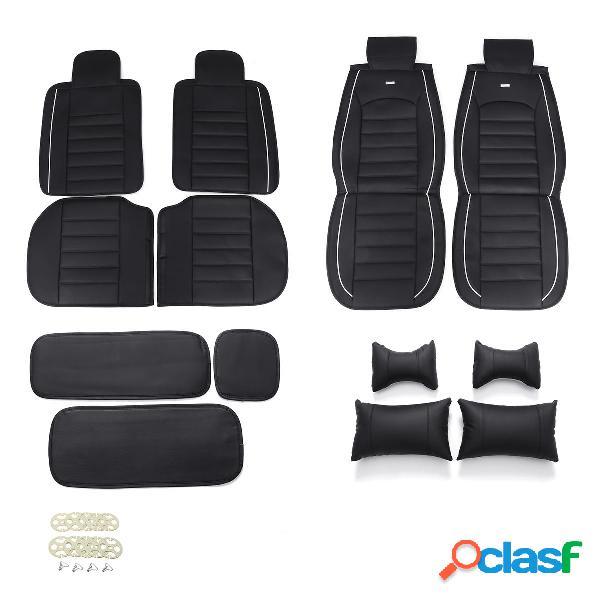 Funda de asiento de cuero Coche 5 asientos SUV Coche Cojín