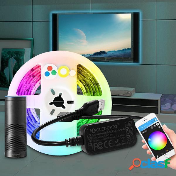 GLEDOPTO DC5V USB 2M RGB CCT Smart LED Strip Light para TV