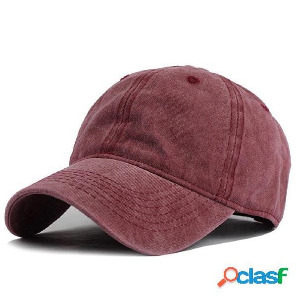 Gorra de Béisbol de Mezclilla Lavada Ajustable de Verano