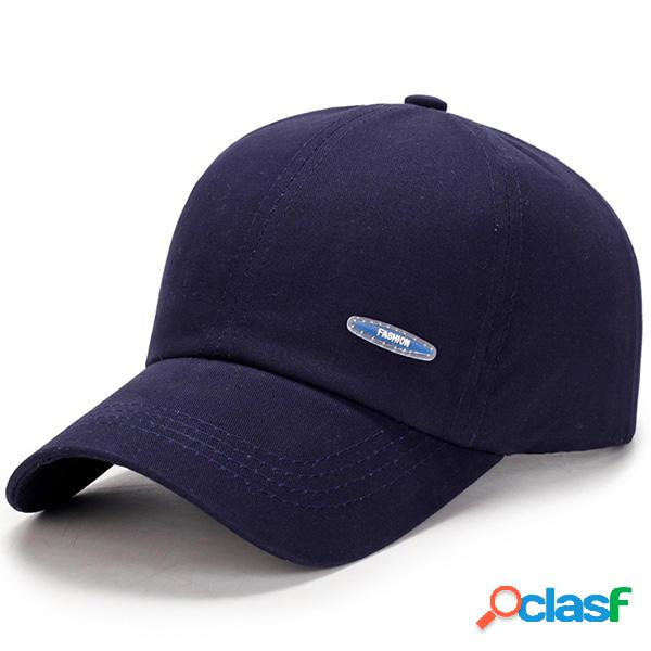 Gorra de béisbol casual de algodón para hombres Gorra de