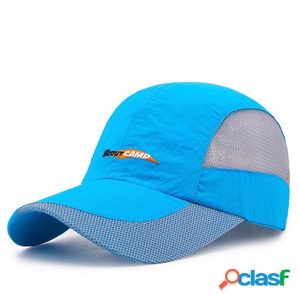 Gorra de béisbol de secado rápido para mujer al aire libre