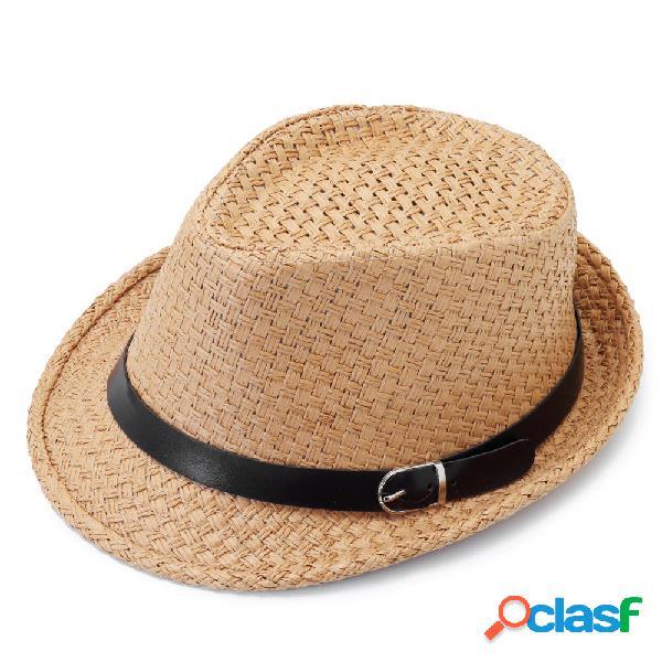 Hombre Mujer Classic Pata ancha Paja vaquera Sombrero al
