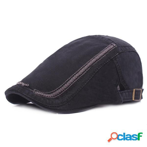 Hombres Mujeres Algodón Washed Beret sombrero Moda hierro