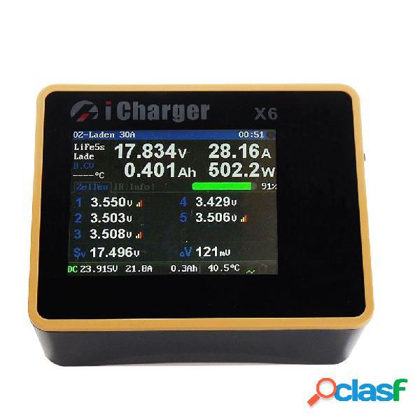 ICharger X6 800W 30A DC Cargador Descargador de Equilibrio