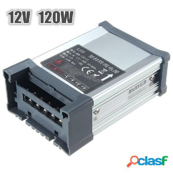 IP65 Impermeable AC 100V-264V a DC 12V 120W 10A Adaptador de