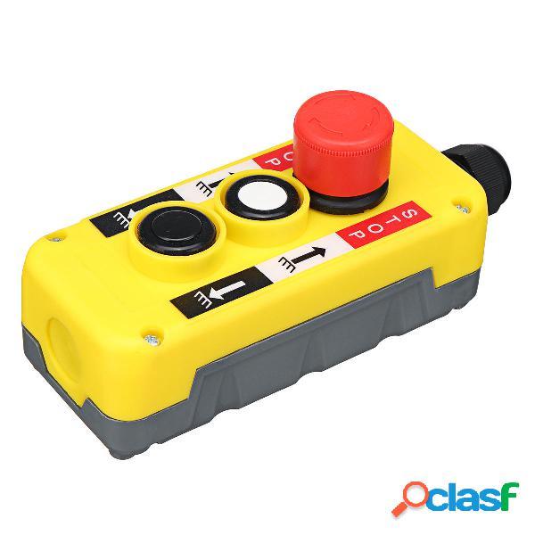 Interruptor de botón con parada de emergencia para grúa