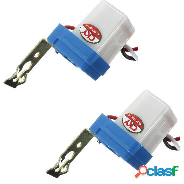 Interruptor de luz de calle de fotocélula 2PCS Encendido