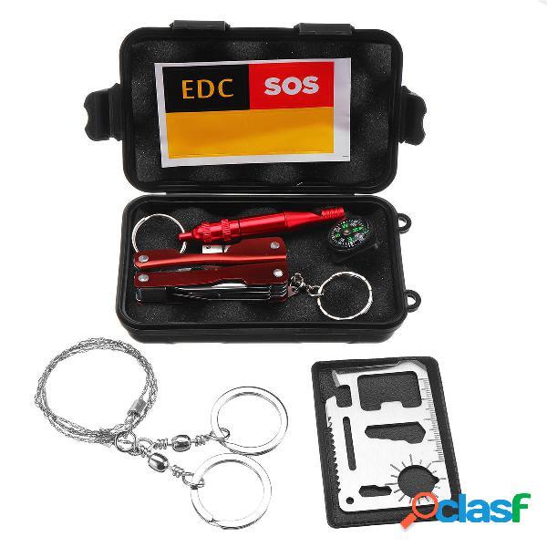 Kit de equipos de supervivencia de emergencia SOS EDC