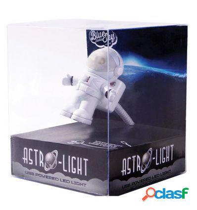 LAMPARA FLEXO LUZ LED USB PORTATIL ASTRONAUTA