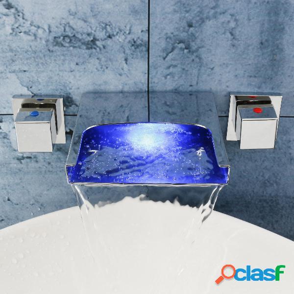 LED Cascada Cuarto de baño Lavabo Grifos para mezclador de