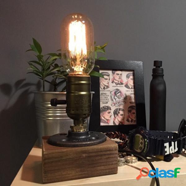 Lámpara de mesa de bulbo edison t45 barra casera luz pipa