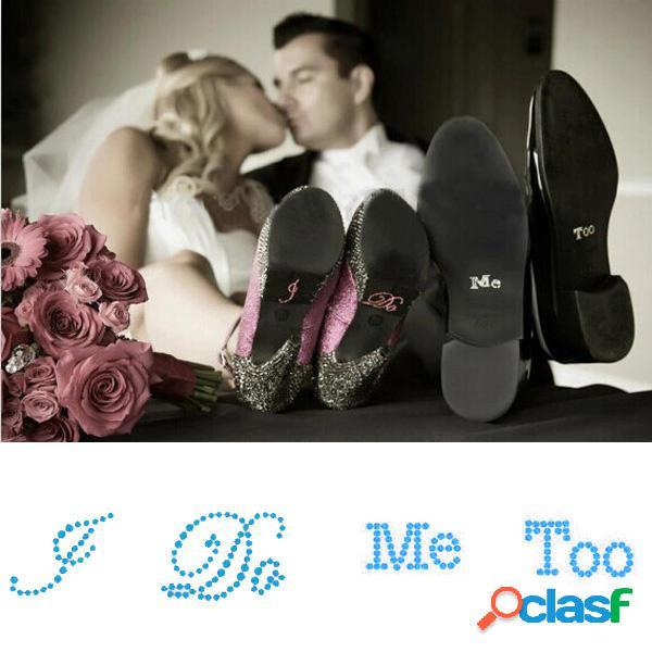 Lo hago yo también pegatinas de zapatos de boda de novia
