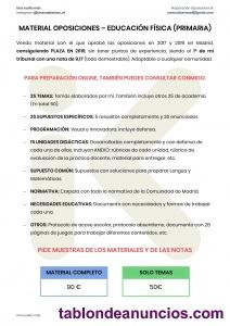 Material oposiciones - educación física (primaria)