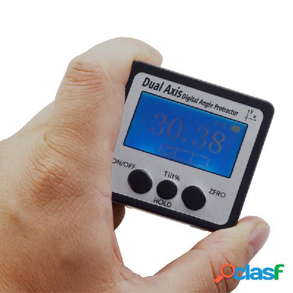 Medidor de ángulo digital mini de doble eje 360 grados IP54