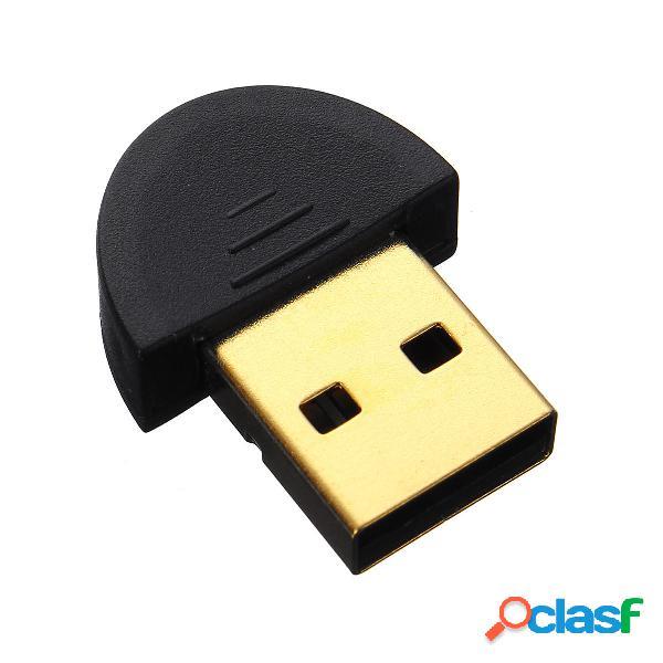 Mini Adaptador inalámbrico Bluetooth V2.0 USB2.0 Mini Alta