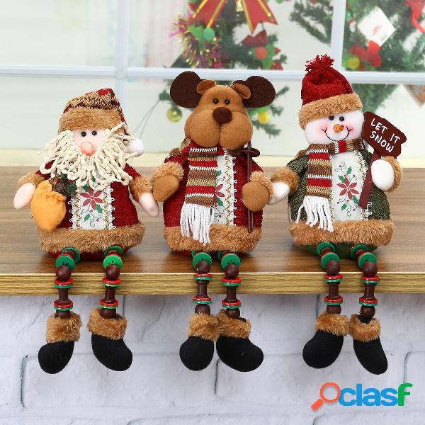 Muñeco de reno de Santa Muñeco de nieve Muñeco de Navidad