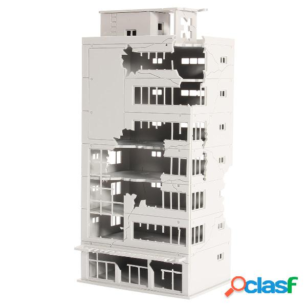 N Escala 1/144 Edificio en ruinas blancas después de la