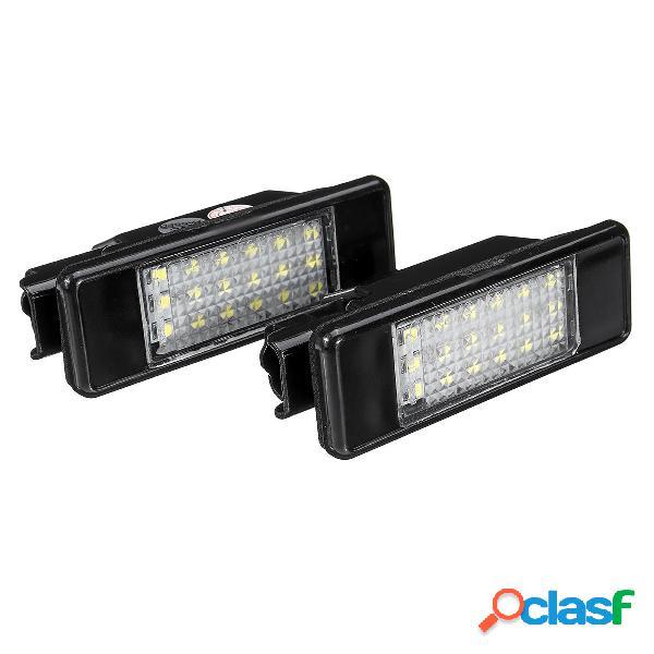 Par LED Licencia Placa Luces 6340.A3 Para Peugeot