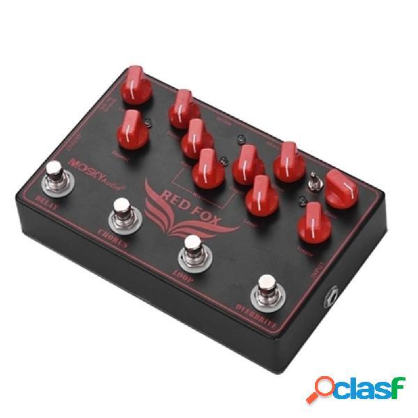 Pedal de efectos de guitarra eléctrica 4 en 1 MOSKY RED FOX