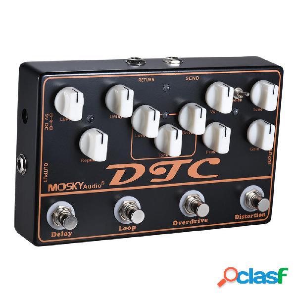 Pedal de efectos de guitarra eléctrica MOSKY DTC 4 en 1 con