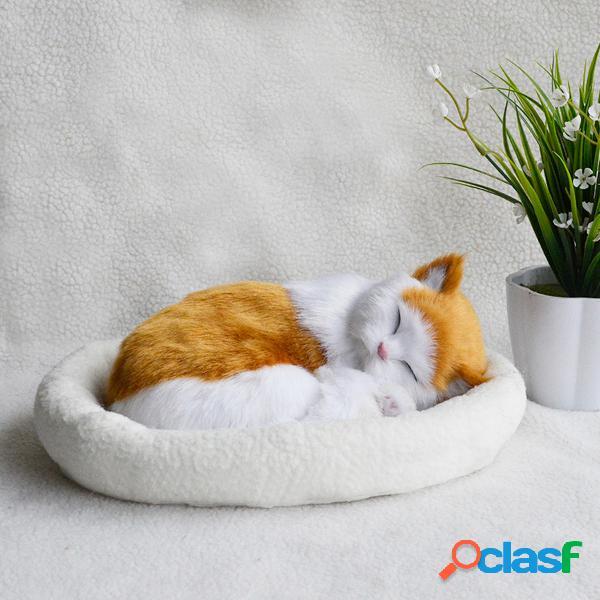 Realista durmiendo Gato felpa realista figura animal