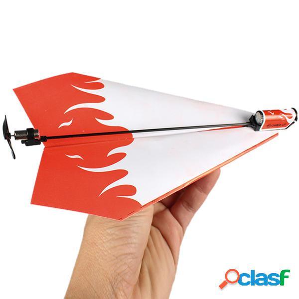 Regalo plegable eléctrica aviones de papel de potencia kit
