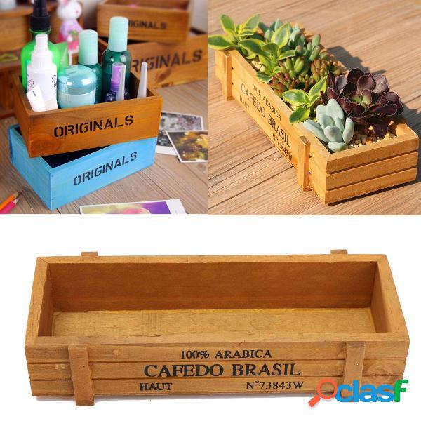 Rústico antiguo vendimia cajas de madera hechas a mano /