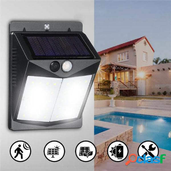 Solar 40 LED Aplique de pared PIR Movimiento Impermeable al