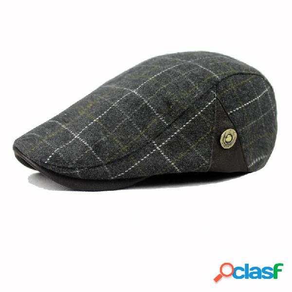 Sombrero de Boina de Mezcla de Lana para Hombres Sombrero de