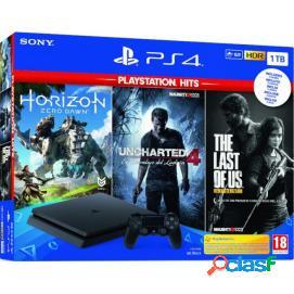 Sony PlayStation 4 Slim 1TB Hits Pack Horizon:Zero Dawn+The
