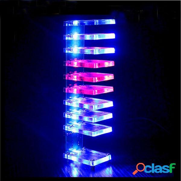 Sueño de cristal bricolaje columna de luz electrónica Cube