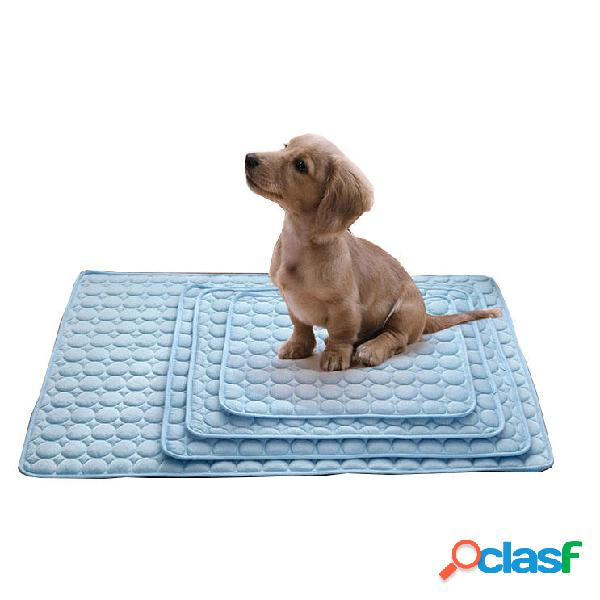 Summer Ice Pad Pet Perro Kitty Cooling Pet Bed Cojín de