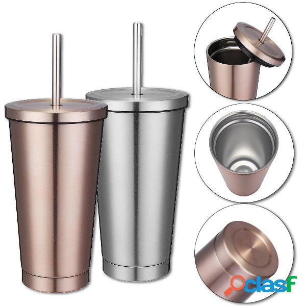 Taza de acero inoxidable y vaso de café portátil de taza