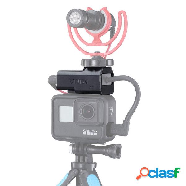 VIJIM GP-3 Vlog Batería Micrófono Adaptador de montaje de