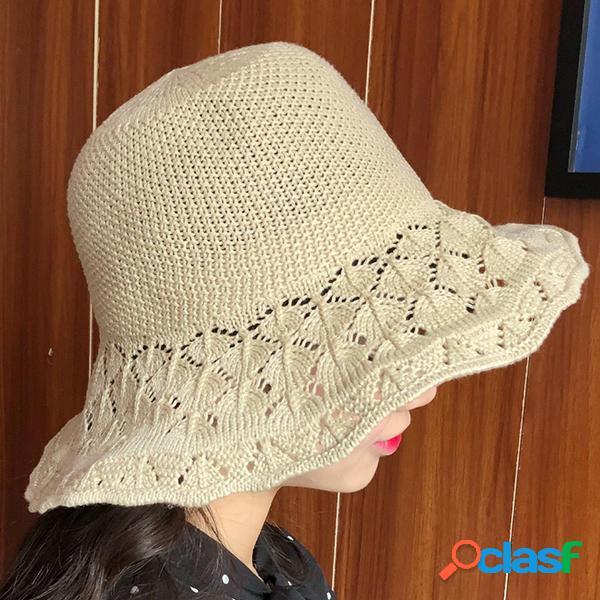 Verano Mujer Sombrero respirable cubo Sombrero al aire libre