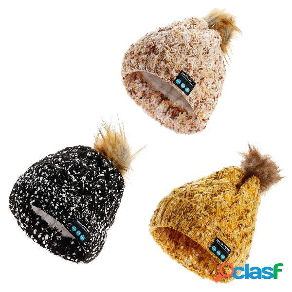 Wireless Warm Beanie bluetooth Música Sombrero Cap Soft