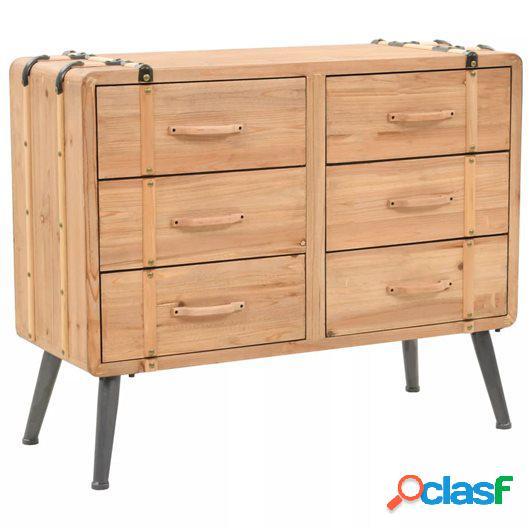 245774 Mueble de cajones de madera maciza de abeto 91x35x73