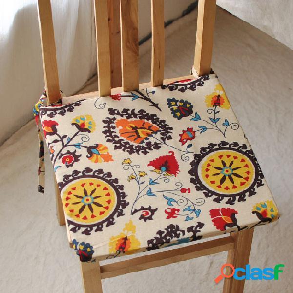 40x40cm bohemia estilo esponja de algodón de lino casa de