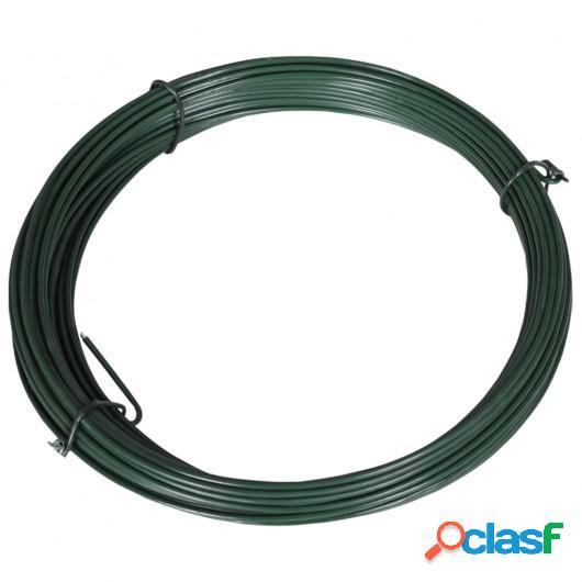 Alambre para atar vallas 25 m 1,4/2 mm acero verde