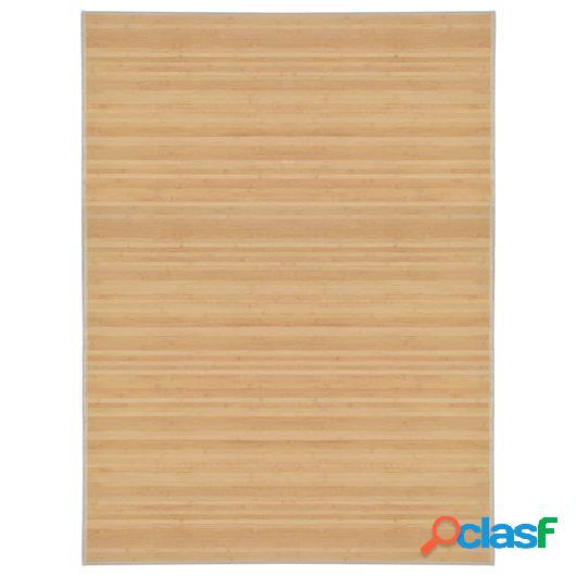 Alfombra de bambú 150x200 cm natural