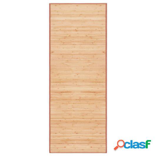 Alfombra de bambú 80x200 cm marrón