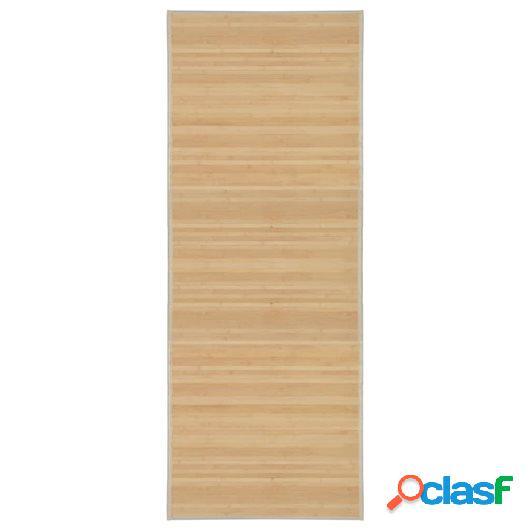 Alfombra de bambú 80x200 cm natural