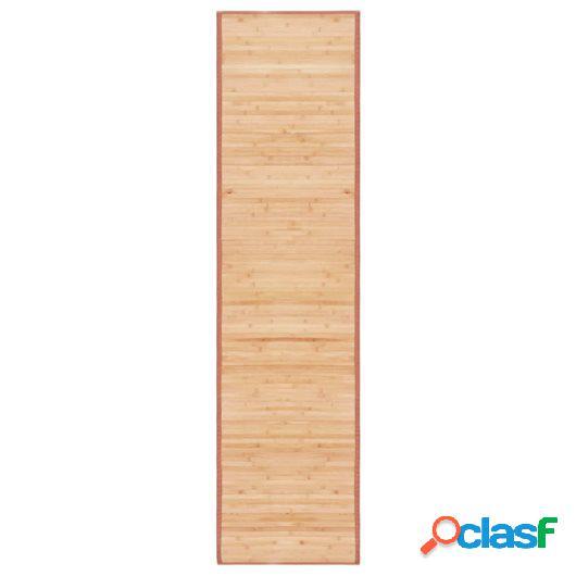 Alfombra de bambú 80x300 cm marrón