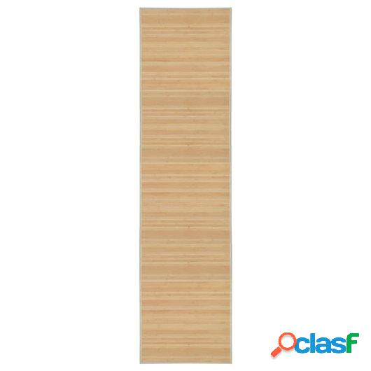 Alfombra de bambú 80x300 cm natural